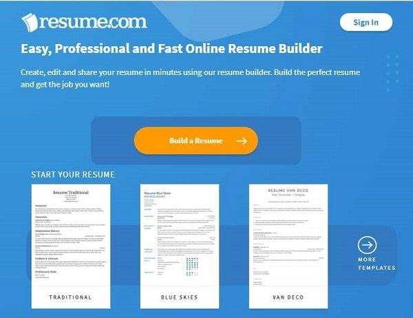 این وبسایتهای فوقالعاده بهصورت آنلاین رزومههای حرفهای بسازید 8