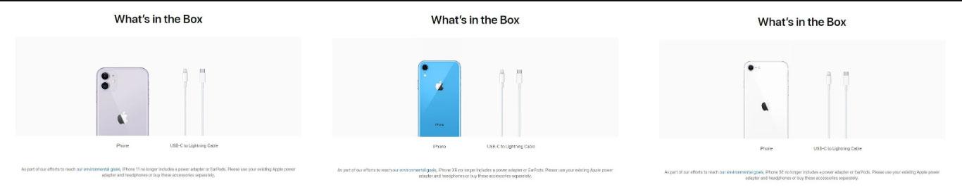 اپل شارژر را از جعبه آیفون ۱۱، آیفون XR و آیفون SE 2020 هم حذف کرد