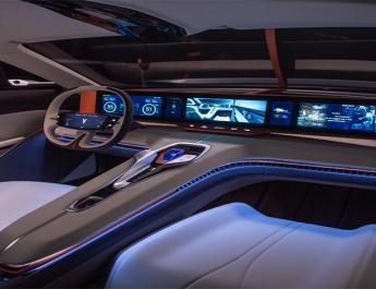 طرح مفهومی جنرال موتورز با نصب نمایشگر روی فرمان برای خودروهای آینده معرفی شد